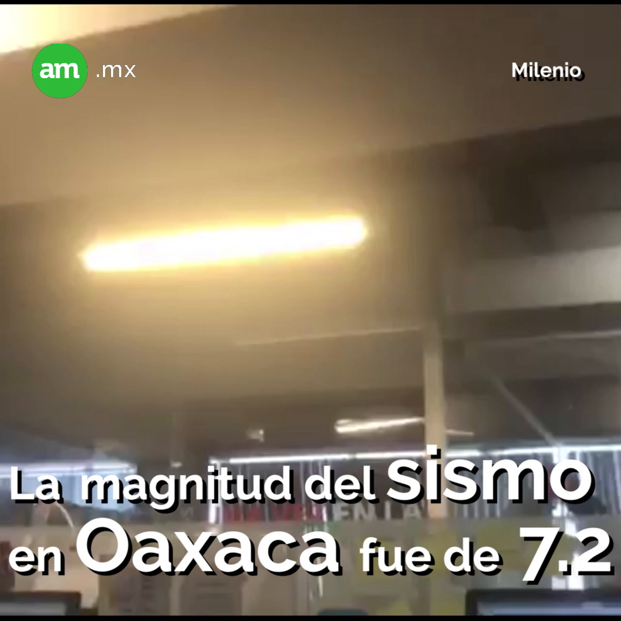La magnitud del sismo en Oaxaca fue de 7.2