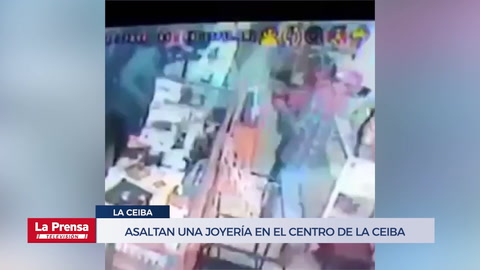 Asaltan una joyería en el centro de La Ceiba