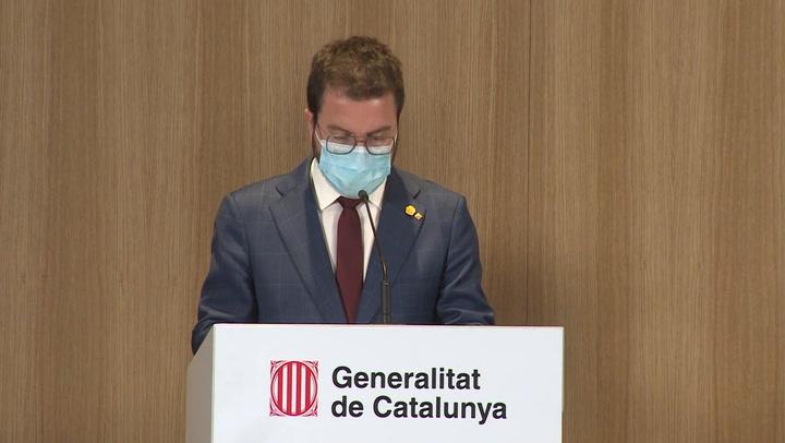 Aragonès llama a la responsabilidad y a