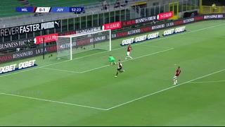 El gol de Cristiano Ronaldo en la goleada del Milan a la Juventus