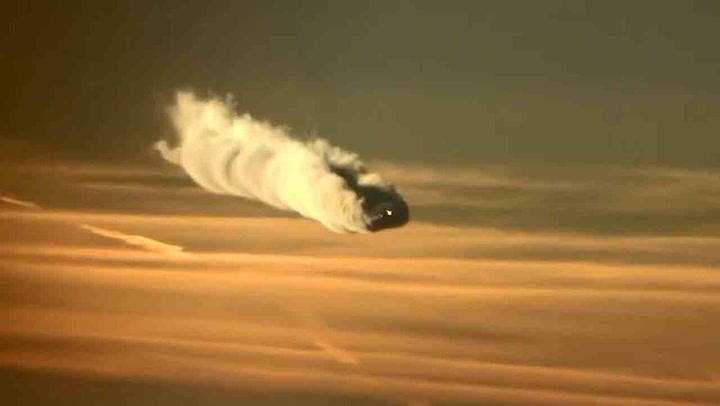 Piloten ble møtt av et spektakulært syn