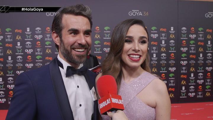 Candela Serrat y Daniel Muriel presumen de embarazo en los Goya
