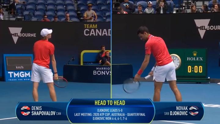 Djokovic vence a Shapovalov en la ATP Cup