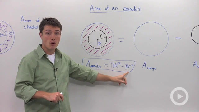 Area of an Annulus - Problem 1