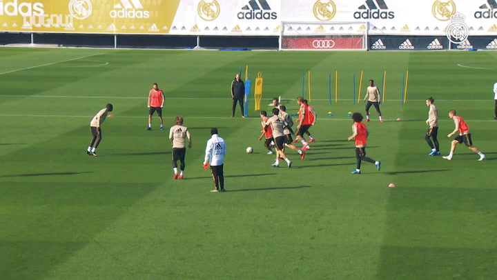Real Madrid's final session ahead of Celta game
