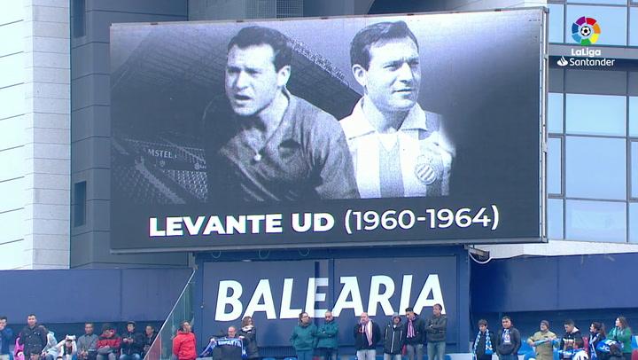 LaLiga: Levante-RCD Espanyol. Minuto de silencio