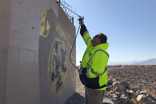 North Las Vegas on top of graffiti cases