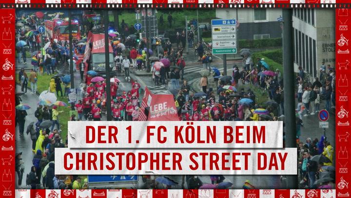 Der 1. FC Köln beim Christopher Street Day