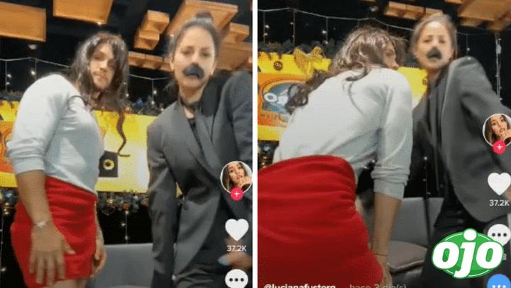 Mario Irivarren se luce con falda de mujer y hace divertido Tik Tok con Luciana Fuster | VIDEO