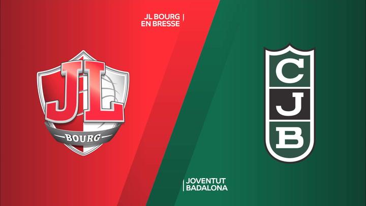 Resumen del Bourg en Bresse - Joventut Badalona de EuroCup
