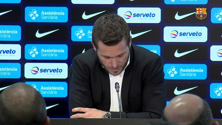El jugador del Barça Víctor Tomás anuncia su retirada al final de temporada