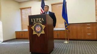 Officer union presser for former Las Vegas officer Kenneth Lopera