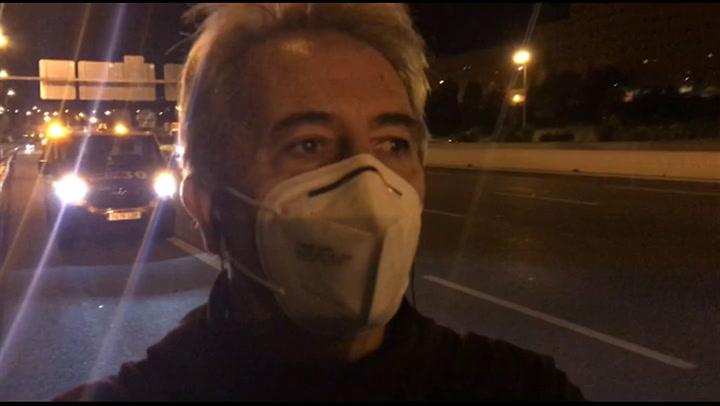 """Accidentado regreso de Manolo Lama, tirado en la carretera: """"¡La que estamos liando!"""""""