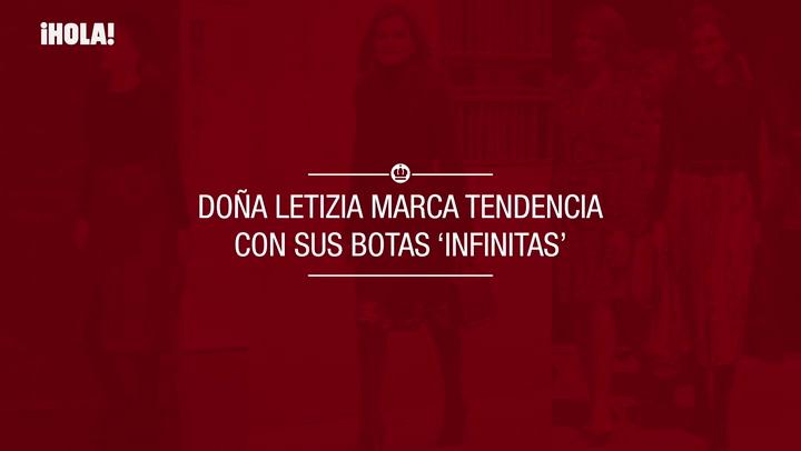 Doña Letizia marca tendencia con sus botas \'infinitas\'