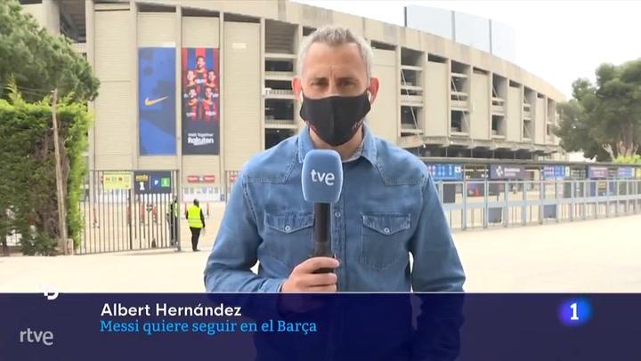 TVE: Messi ya ha comunicado al Barça que quiere seguir con condiciones