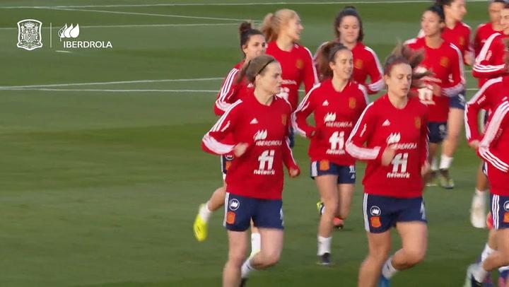 Entrenamiento de la Selección española femenina en Las Rozas