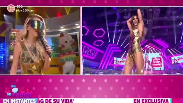Brunella Horna imitó el look dorado de Melissa Loza en EEG