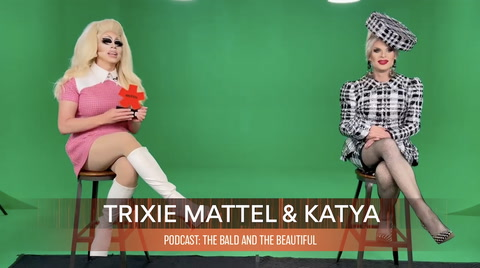 Trixie Mattel & Katya, winners of PODCAST