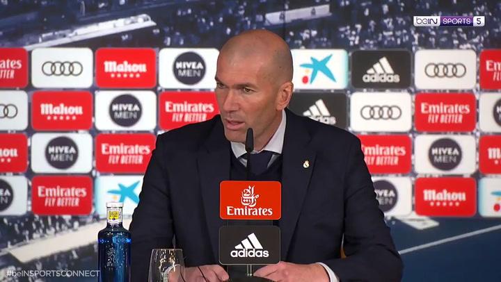 Zidane valoró el buen trabajo de Vinicius y Courtois