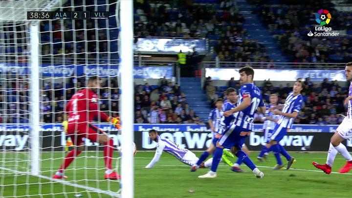 LaLiga: Alavés-Valladolid. Gol de Joaquín Fernádez (2-1)