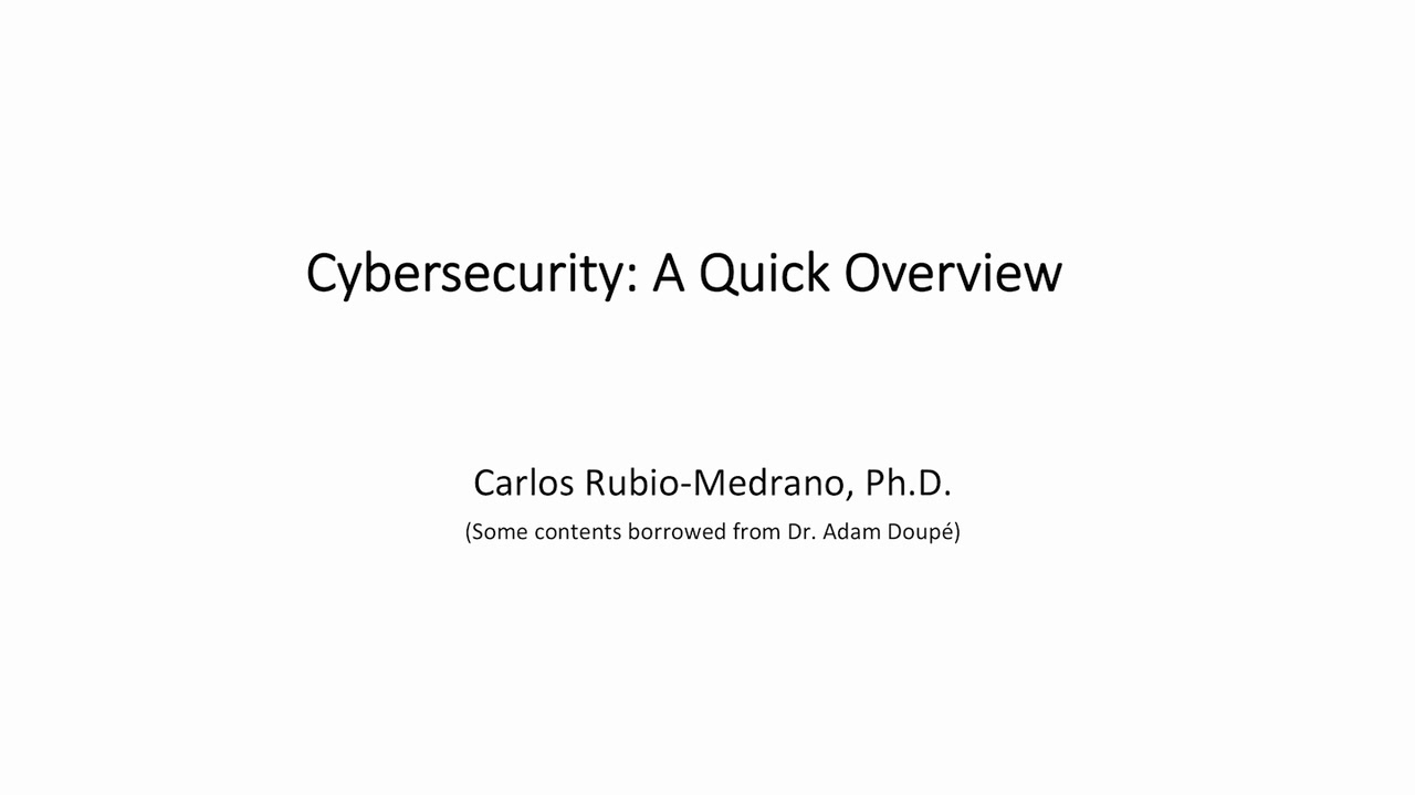 Chapter 1: Cybersecurity Introduction
