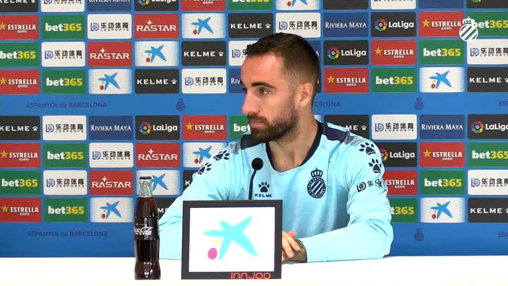 La rueda de prensa de Sergi Darder (Espanyol)