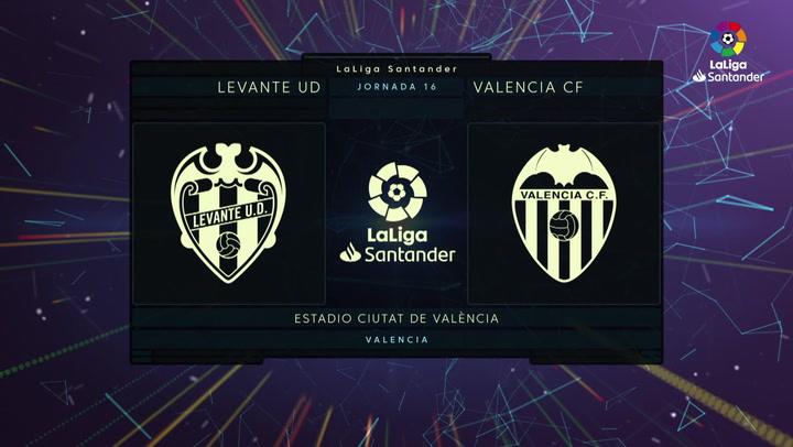 LaLiga (J16): Resumen y goles del Levante 2-4 Valencia
