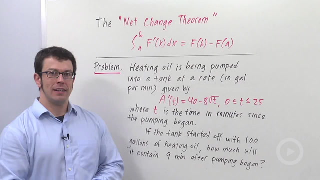 Definite Integrals As Net Change - Problem 1