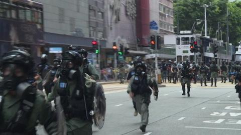 Miles de manifestantes en Hong Kong contra proyecto de ley chino sobre seguridad