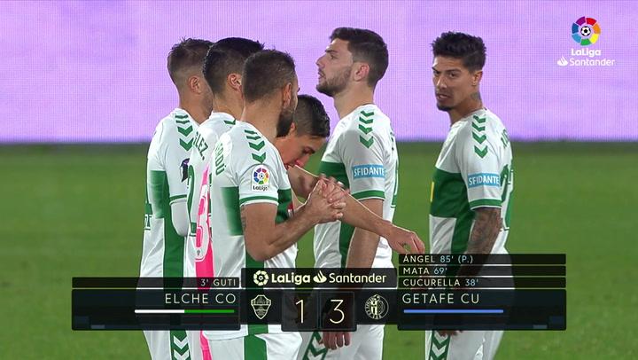LaLiga Santander (J18): Resumen y goles del Elche 1-3 Getafe