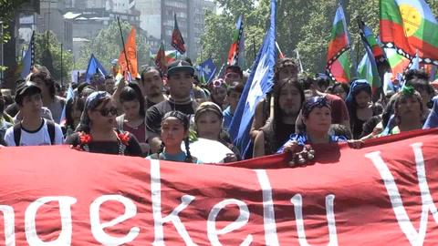 Marcha mapuche en Chile pide frenar las
