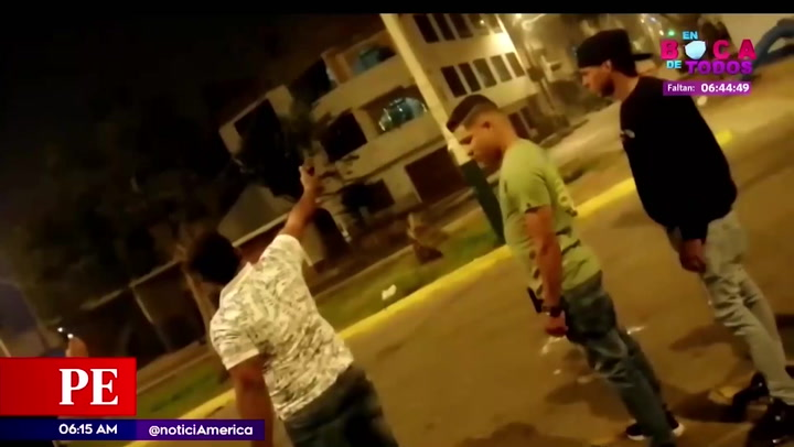 Vecinos de San Martín de Porres preocupados por videos de sujetos disparando al aire