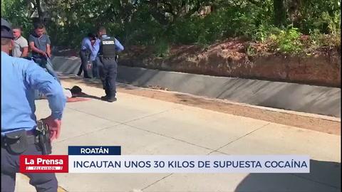 Incautan unos 30 kilos de supuesta cocaína en Roatán
