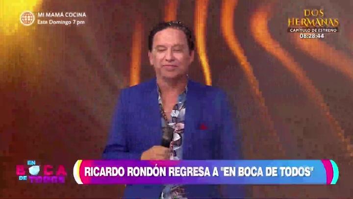 Ricardo Rondón regresó al programa 'En boca de todos' tras dar negativo a COVID-19