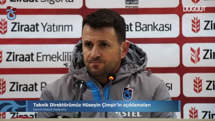 Hüseyin Çimşir'in Denizlispor Maçı Sonrası Açıklamaları