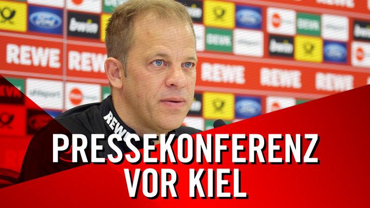 Pressekonferenz vor Kiel