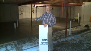 Foundation insulation seals the thermal envelope for the Proud Green Home of St Louis