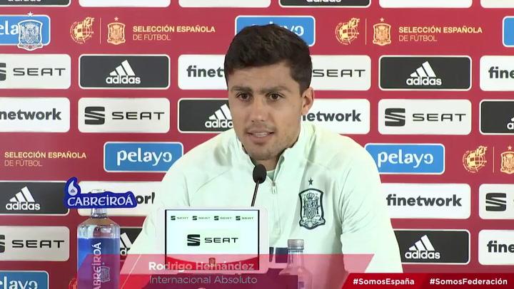 """Rodri: """"Veo a otra selecciones y tampoco golean; el gol está muy caro"""""""