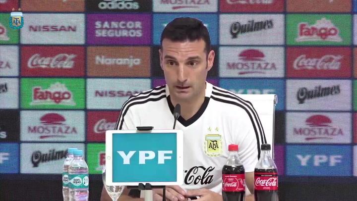 Scaloni explica cómo convenció a Messi para volver a la Selección