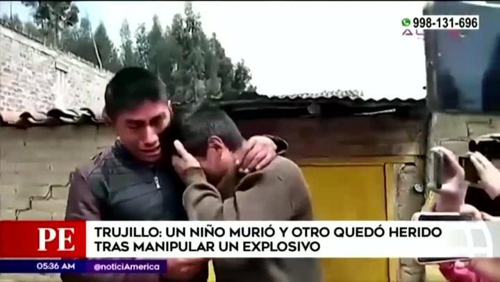 Niño de 11 años muere y otro menor pierde el brazo tras manipular explosivo