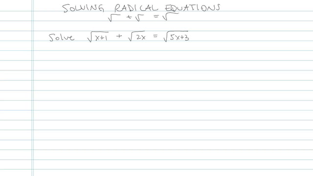 Solving an Equation with Radicals - Problem 4