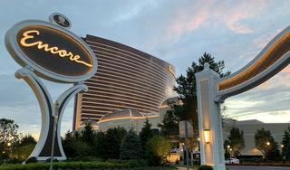 One way to get to Encore Boston Harbor is on the water
