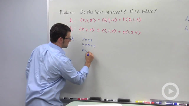 Perpendicular, Parallel and Skew Lines in Space - Problem 2