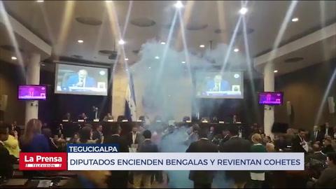 Tremendo zafarrancho en el Congreso de Honduras