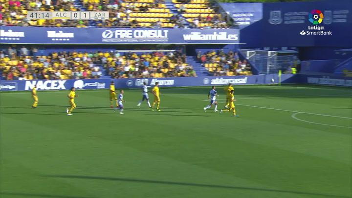 Gol de Luis Súarez (0-2) en el AD Alcorcón 0-3 R. Zaragoza