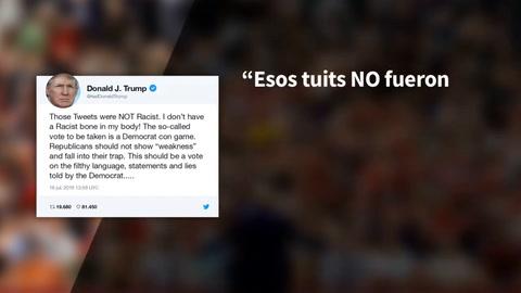 Trump niega que sus declaraciones sobre congresistas demócratas fueran