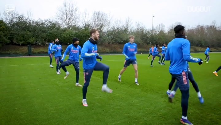 Thomas Partey returns to Arsenal training in first session of the year