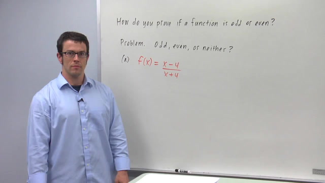 Symmetry of Graphs: Odd and Even Functions - Problem 2