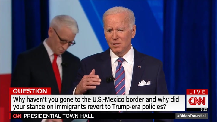Biden: 'You're Not Seeing a Lot of Pictures of Kids Lying on Top of One Another' with Tarps on Them on Border