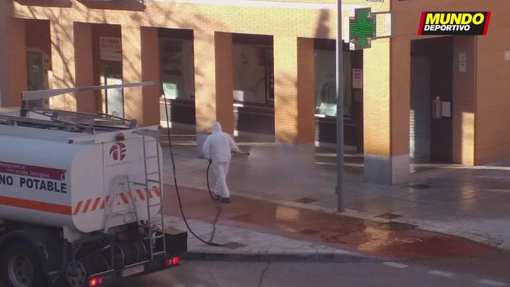 Madrid desinfecta las calles